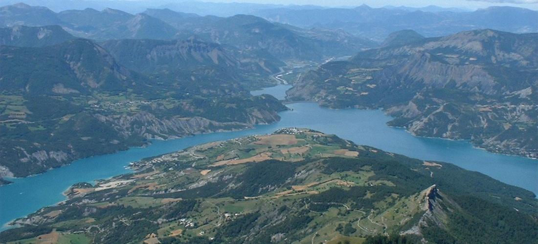 La vallée de la Durance depuis le sommet du Morgon